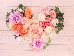 花,カラフル,フラワー,バラ,ハート,リース,ダリア,造花,フェイクフラワー,ハートのリース