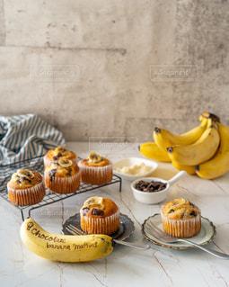 お菓子,マフィン,バナナ