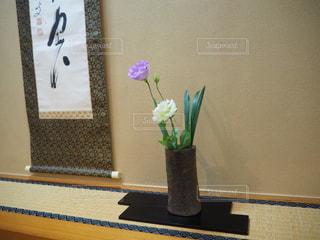 インテリア,花,和室,畳,造花,掛け軸