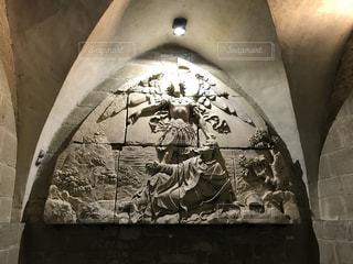 覆われている落書きの壁の写真・画像素材[788252]