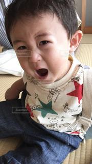 かわいい,子供,悲しい,赤ちゃん,ひとり,泣き顔