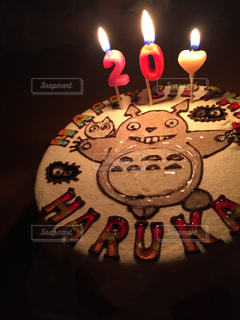 ケーキ,可愛い,トトロ,誕生日,cake,ハタチ