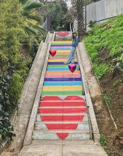 カラフル階段の写真・画像素材[2149169]