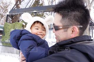 雪,親子,子供,雪遊び,笑顔,抱っこ