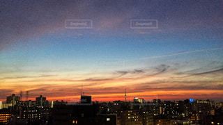 夕日,夕焼け,スカイツリー,夕方,夕陽,マジックアワー