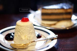 喫茶築地のムースケーキの写真・画像素材[1675374]