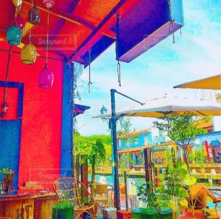 カフェ,カラフル,世界遺産,マレーシア,東南アジア,マラッカ,リバーサイドカフェ