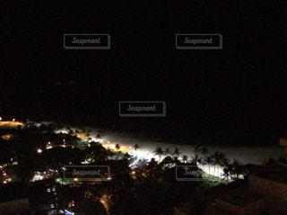 海,夜,アメリカ,観光,旅行,ハワイ,オアフ,ワイキキビーチ,ナイトビーチ,夜のビーチ