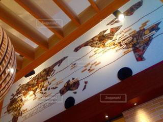 インテリア,壁,ナチュラル,世界地図