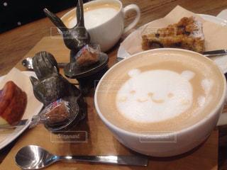 カフェ,可愛い,お茶,ラテアート,クマ