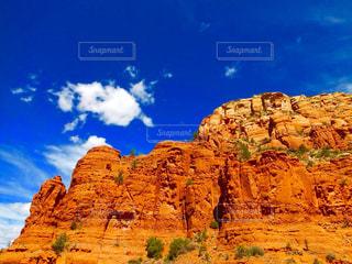 背景の山と渓谷の写真・画像素材[790303]