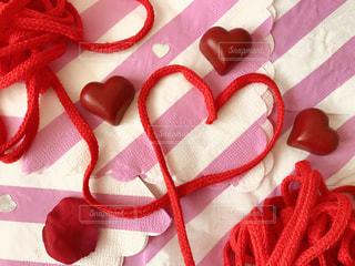 ピンク,赤,紐,ハート,ラブ,糸,ストライプ,フォトジェニック,インスタ映え