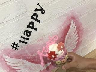 ピンクのバースデー ケーキの写真・画像素材[1446527]