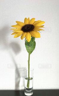 テーブルの上に座る花で満たされた花瓶の写真・画像素材[4318392]