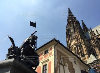 プラハ城にある聖ヴイート大聖堂の写真・画像素材[787112]