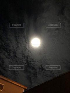 夜空,満月,明るい