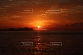 海,海岸,夕陽,日本海