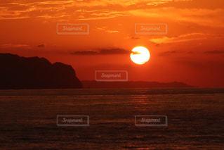 雲,海岸,オレンジ,夕陽,日本海