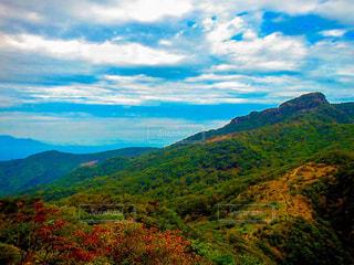 自然,空,秋,紅葉,山,景色,登山,旅,九州,宮崎,眺望,ライフスタイル,秋空,眺め