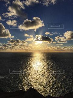 海,空,海外,太陽,夕焼け,幻想的,夕方,夕陽,ポルトガル