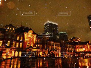 冬,夜,夜景,東京,駅,幻想的,観光,都会,旅行,2月,降雪