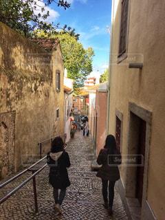 街角,屋外,晴れ,青空,散歩,ヨーロッパ,日常,道,レジャー,ポルトガル,ライフスタイル,お出かけ
