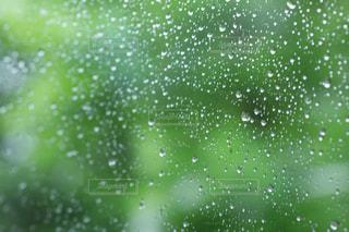 梅雨ドライブ 車窓の雨の雫の写真・画像素材[2187214]