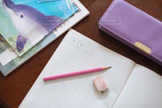 勉強の秋 算数の宿題をする小学生の写真・画像素材[2489516]