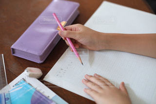 勉強の秋 算数の宿題をする小学生の写真・画像素材[2489520]