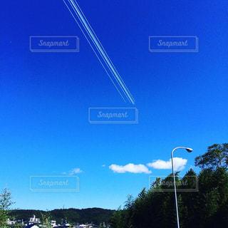 晴天,飛行機雲,秋晴れ,秋空