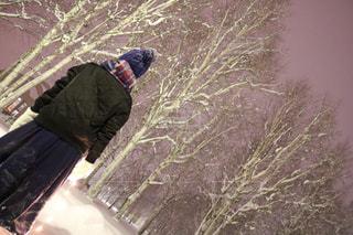 雪をスノーボードに乗る男覆われた斜面 - No.903572