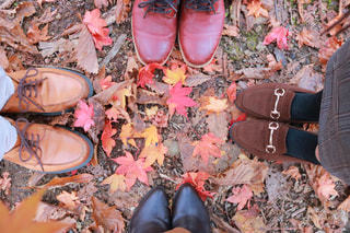 地面に靴のグループの写真・画像素材[1620901]