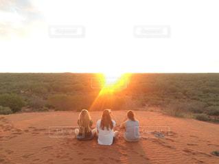 夕日,砂,夕焼け,砂漠,キャンプ,エアーズロック,サンセット