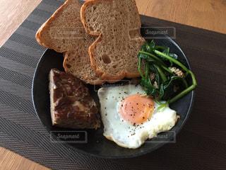 朝食,ベーコン,おいしい,食パン,全粒粉