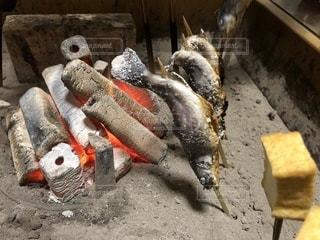 豆腐,焼き魚,串焼き,囲炉裏,炭焼き