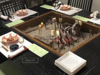 温泉,串焼き,夕飯,囲炉裏,炭焼き,花巻温泉