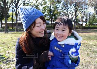 公園,かわいい,楽しい,男の子,ママ,ママと子供