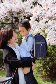 春,親子,元気,笑顔,男の子,ママ,お母さん