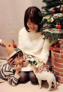 親子,元気,笑顔,クリスマス,男の子,ママ,お母さん