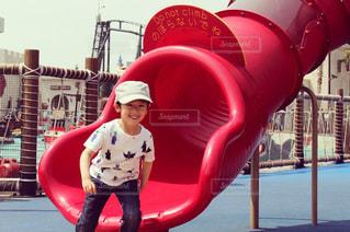 公園,夏,Tシャツ,休日,男の子,コーデ,夏服,半袖