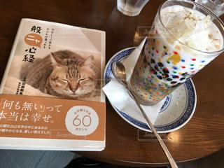 テーブルの上に座って猫の写真・画像素材[800294]