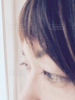 女性,顔,目,瞳,視線,まつ毛