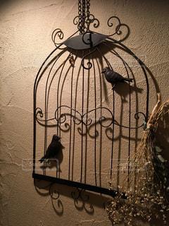 カフェ,インテリア,壁,鳥かご