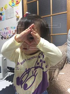 キッズ,女子,2歳,目,ドラゴンボール,アレンジ,長女,育児,西松屋,コドモ,気功法,三つ目,芸達者