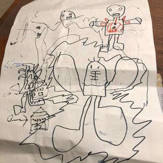 絵,子供,手書き
