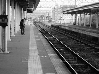 鉄道の駅に引いての写真・画像素材[814355]