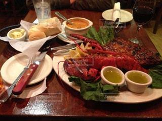 ご飯,肉,グアム,happy,food,シーフード,GUAM,trip,ガッツリ,Tony Roma's,ロブスター&リブロース,aganashoppingcenter