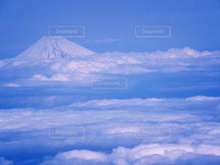 空と雲と富士山の写真・画像素材[871071]