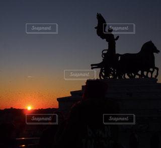 美しい夕焼けの写真・画像素材[955786]