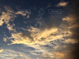 空,雲,朝,秋空,ベランダから